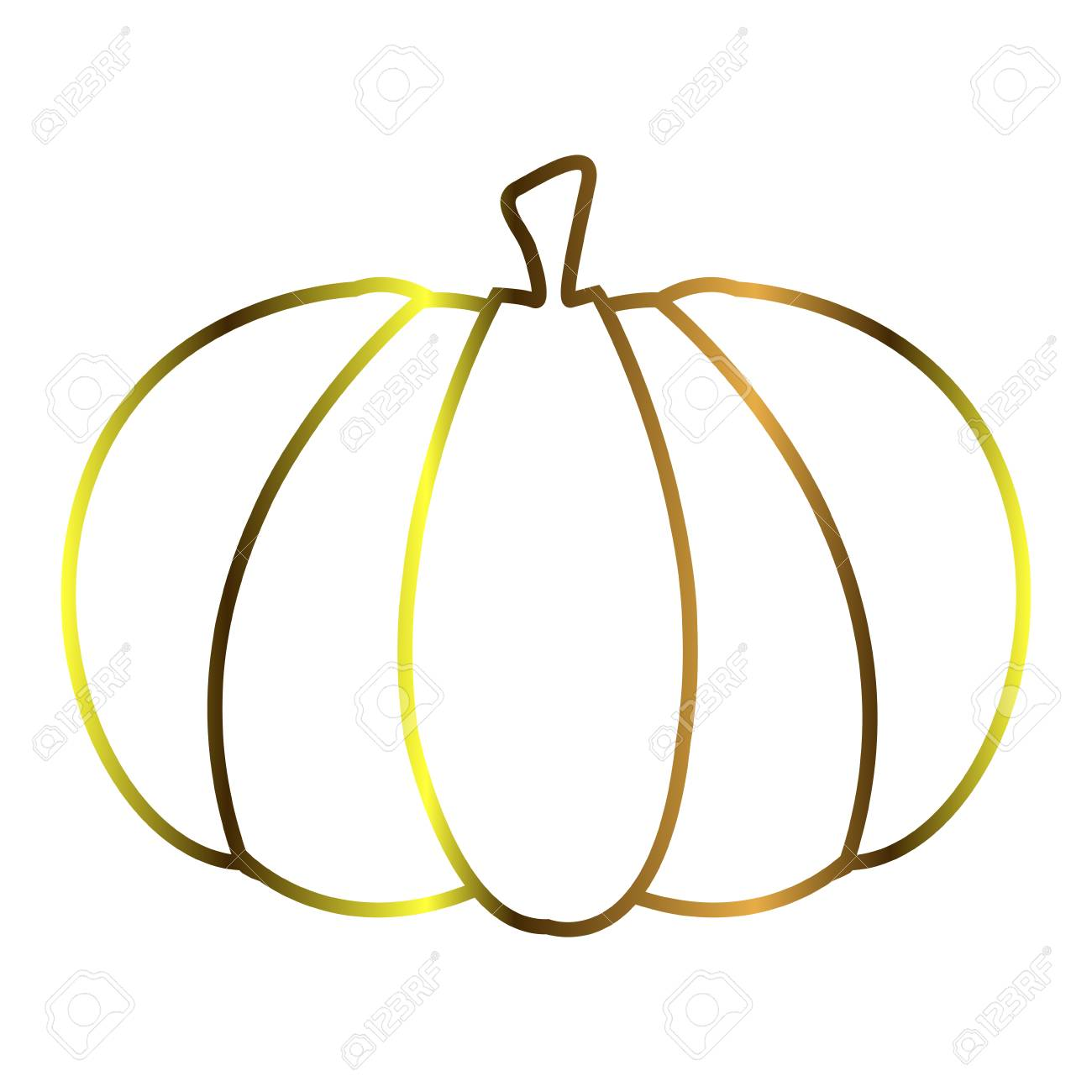 Isolated Pumpkin Outline Royalty Free Cliparts Vectors And Stock