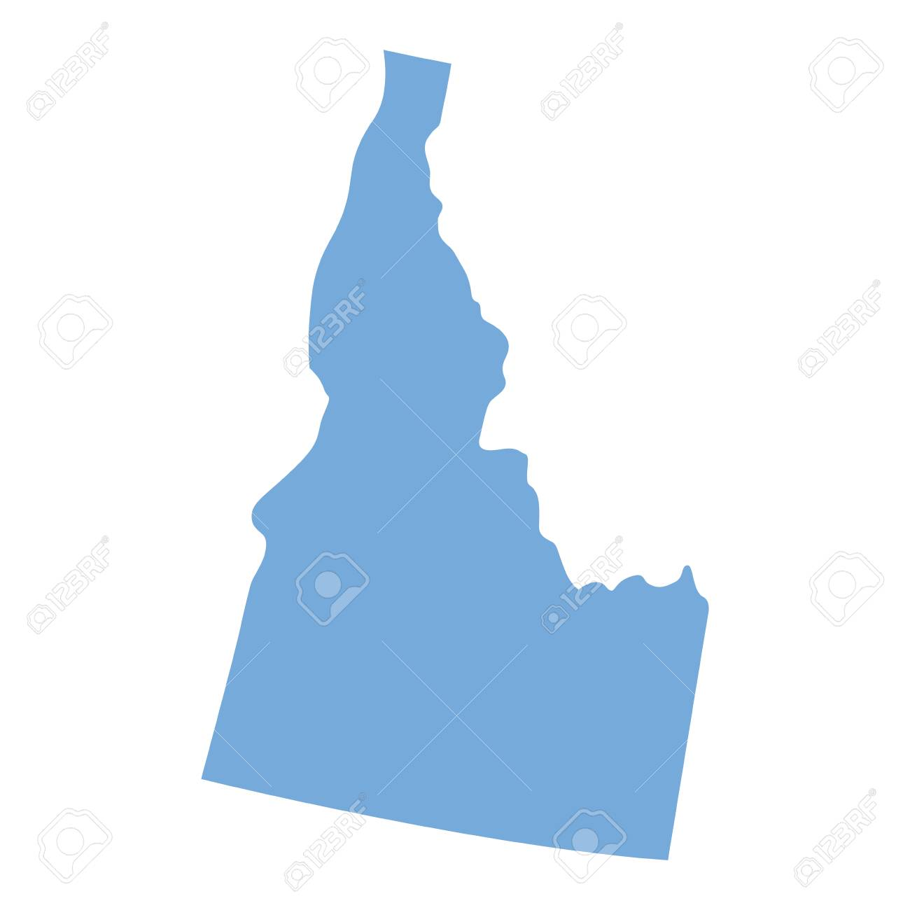 Map Of Idaho State On A White Background, Vector Illustration ...