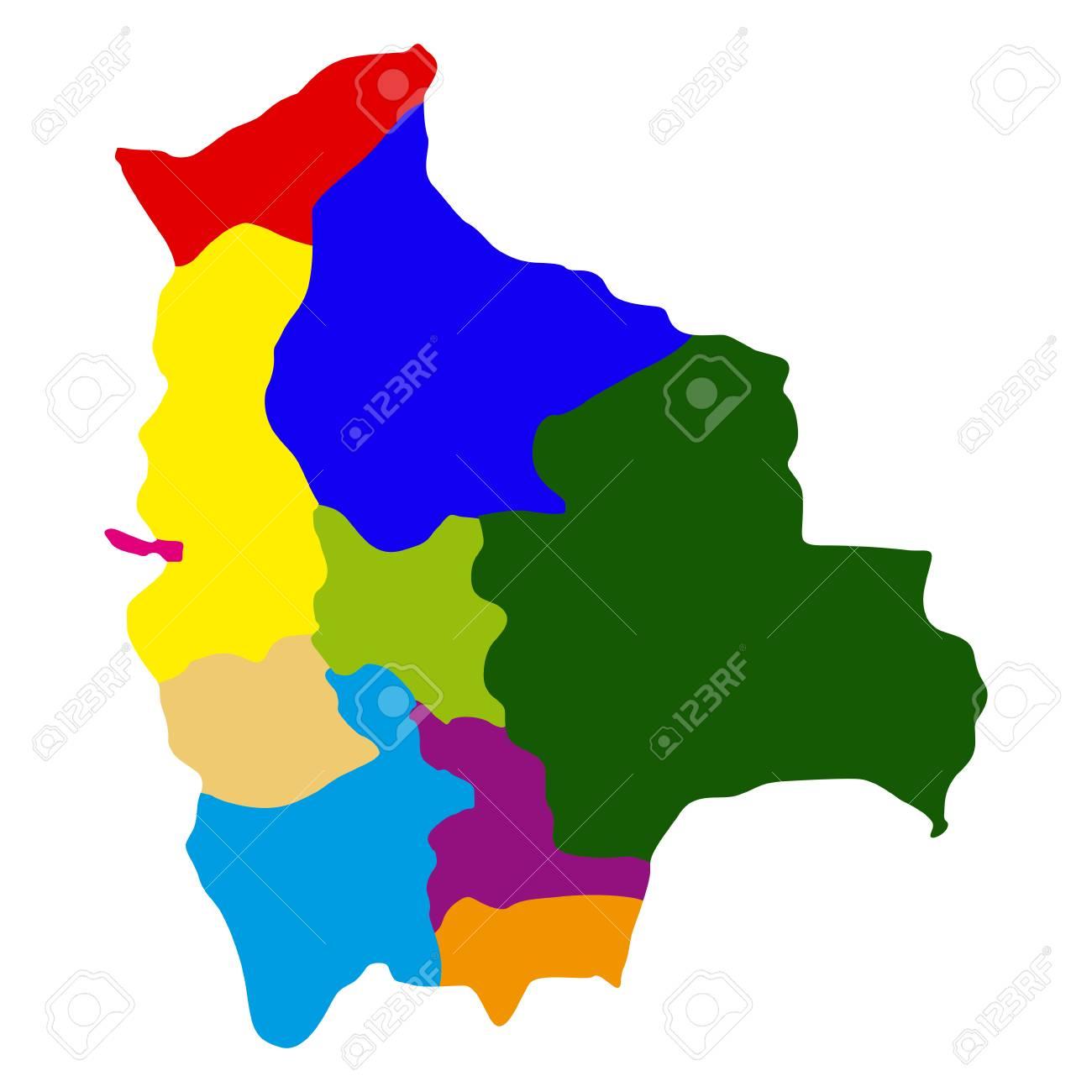Political Map Of Bolivia Vector Illustration Design Royalty Free