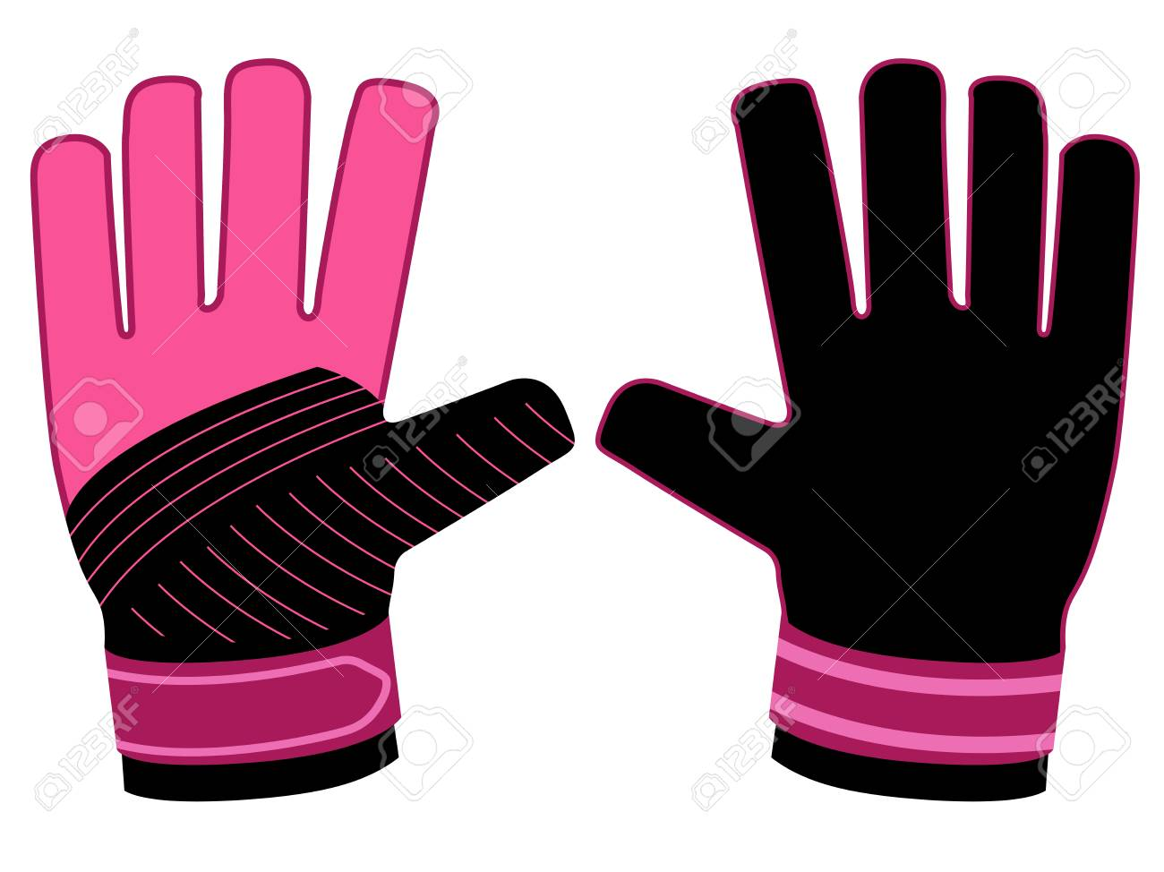 Isolated Goalkeeper Gloves Icon Royalty Free Cliparts Vectors And Stock Illustration Image 102189925
