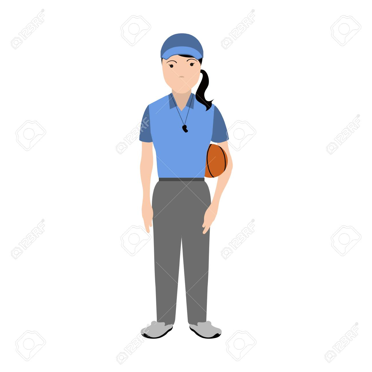 Isolated Physical Education Teacher Avatar Royalty Free Cliparts Vectors And Stock Illustration Image 103585798