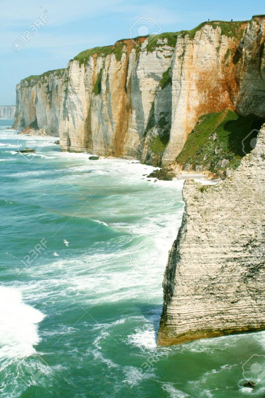 The Cliffs Of Etretat Normandy France Stock Photo Picture And