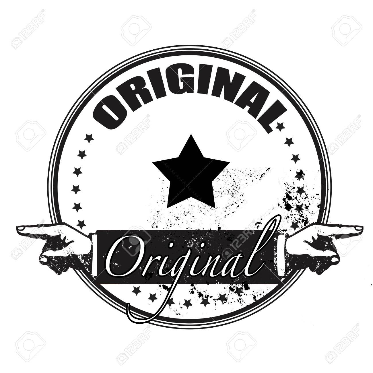 new product 921b4 b7ba3 original grunge stamp with on vector illustration Stock Vector - 26859940