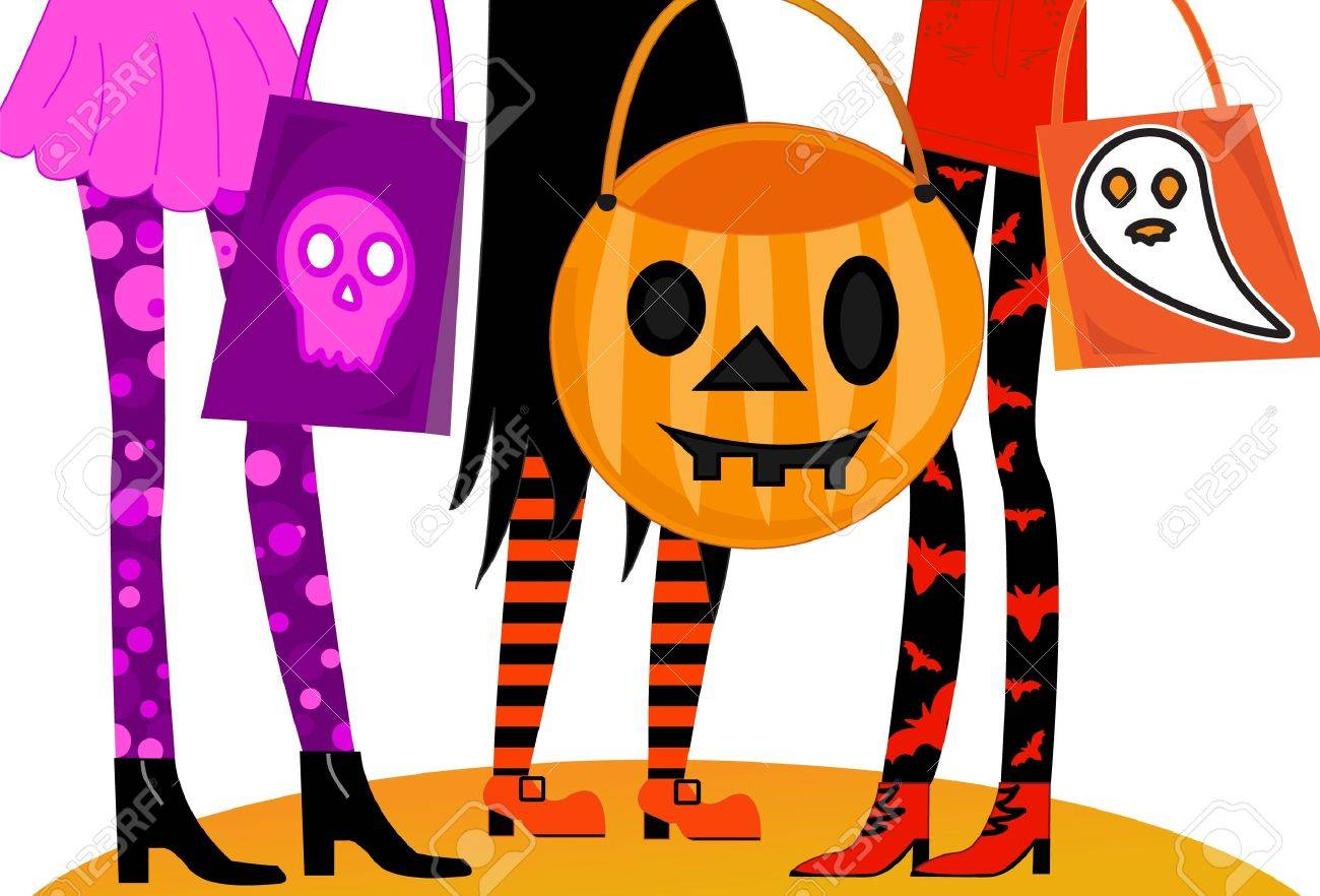 Halloween Trick Or Treaters Royalty Free Cliparts, Vectors, And ...
