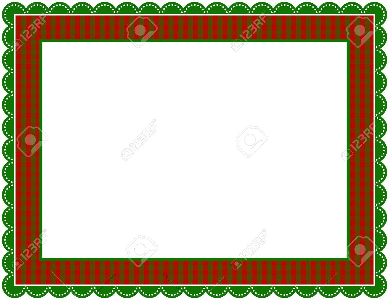 Christmas Gingham Frame Stock Vector - 9917609