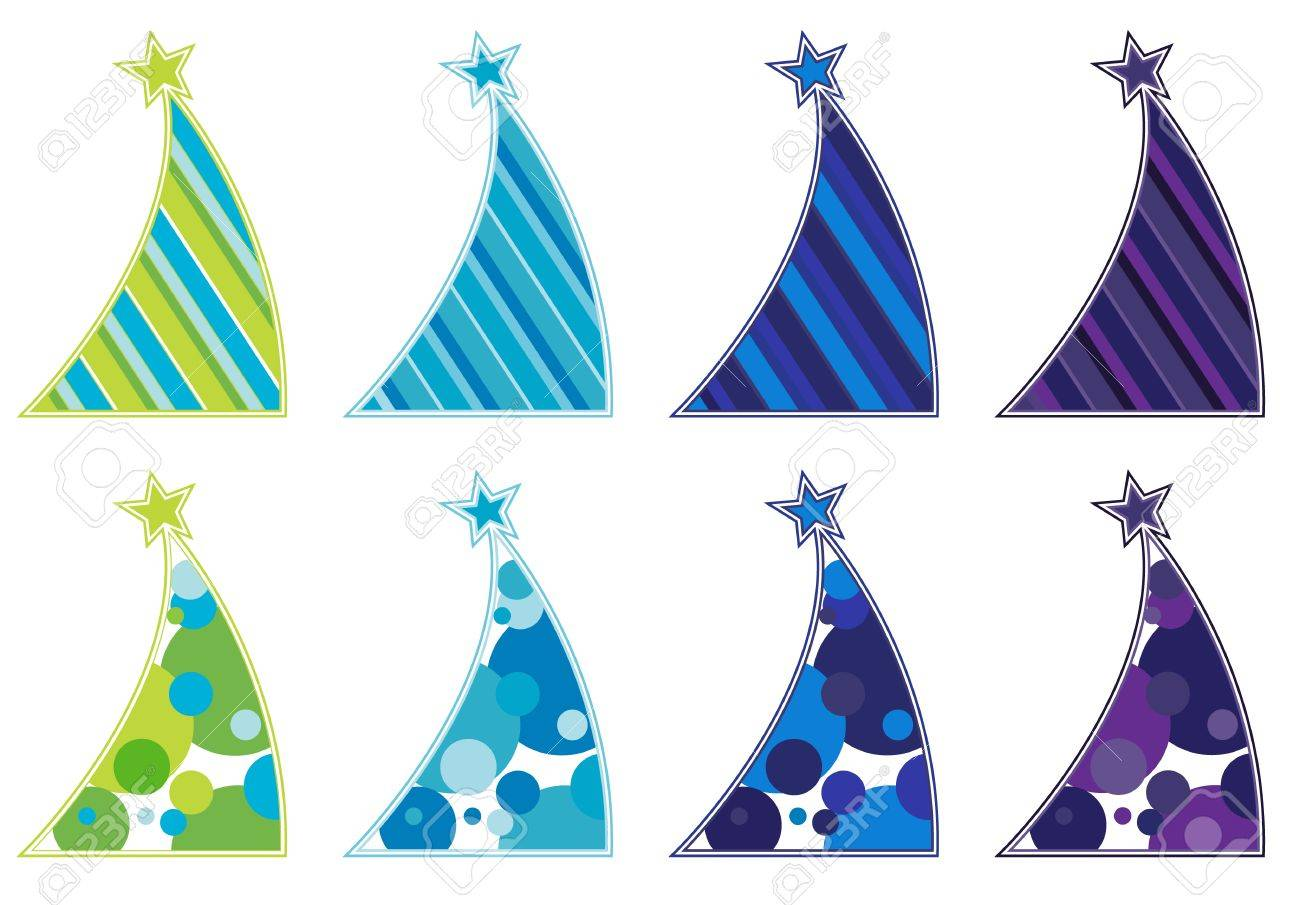 Contemporary Christmas Tree contemporary christmas tree collection royalty free cliparts