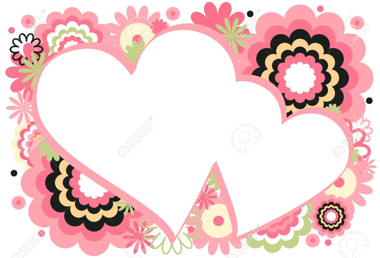 pink heart frame royalty free cliparts vectors and stock - Heart Frame