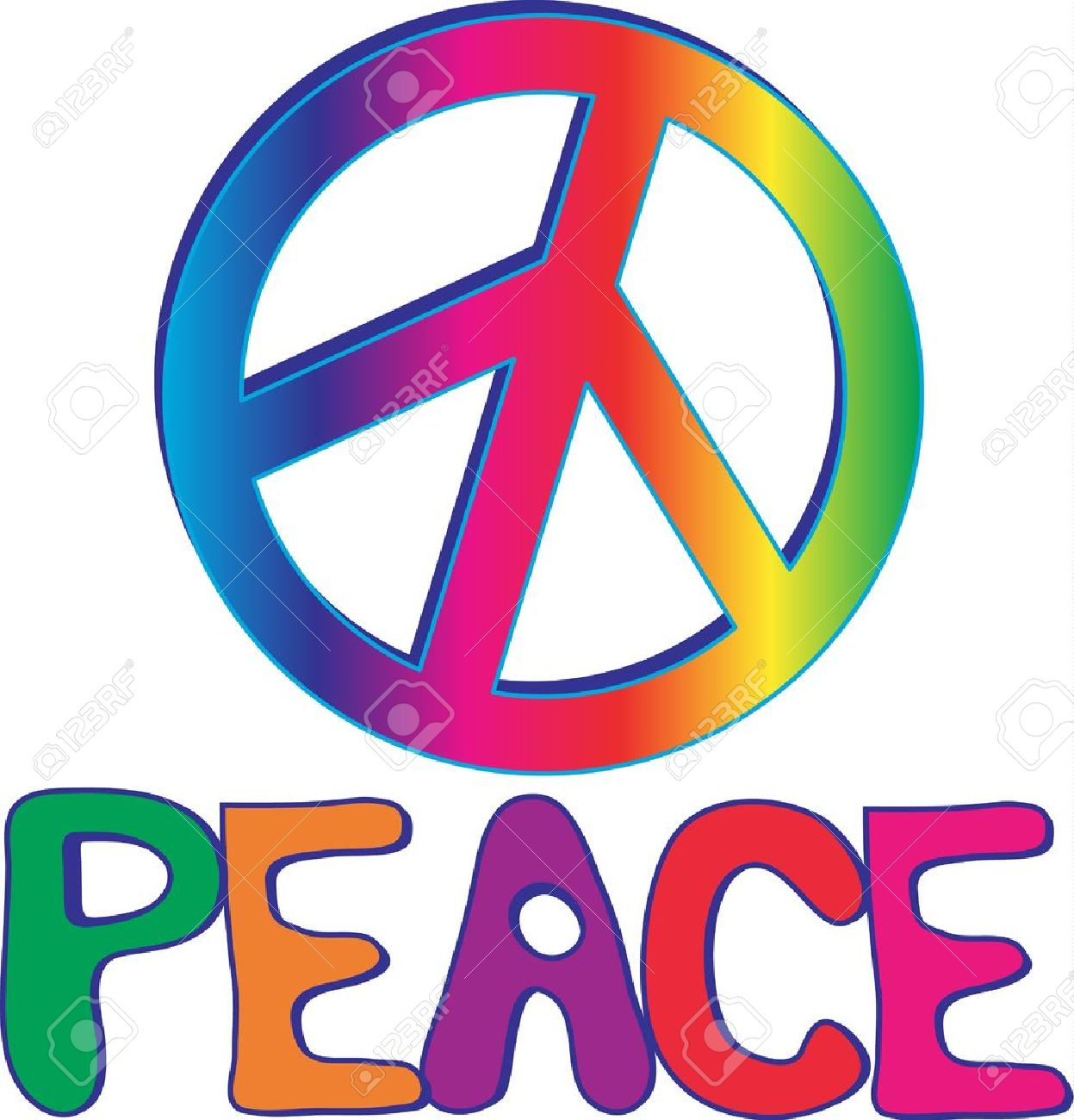 peace text with peace sign royalty free cliparts vectors and stock rh 123rf com vector peace sign fingers peace sign vector art