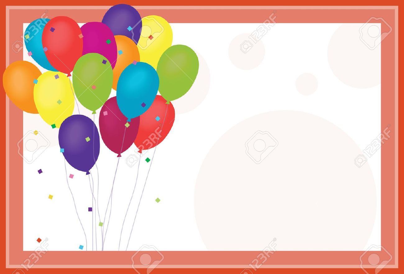 Birthday Balloons Royalty Free Cliparts Vectors And – Birthday Invitation Background