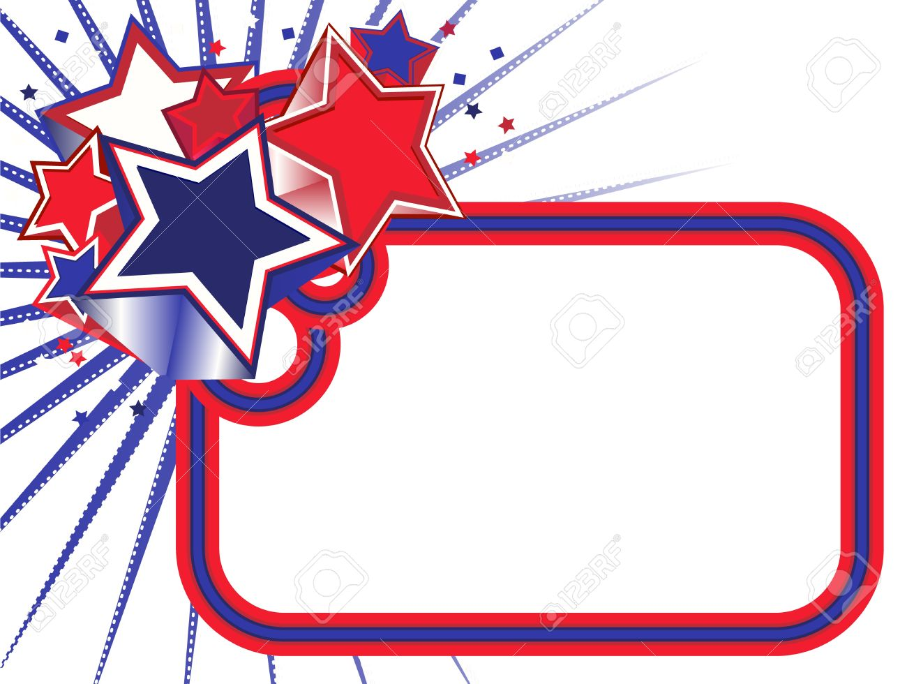 red white and blue stars banner on a white background royalty free rh 123rf com