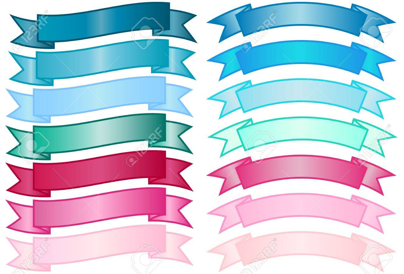 Set of simple Banners Stock Vector - 9919624