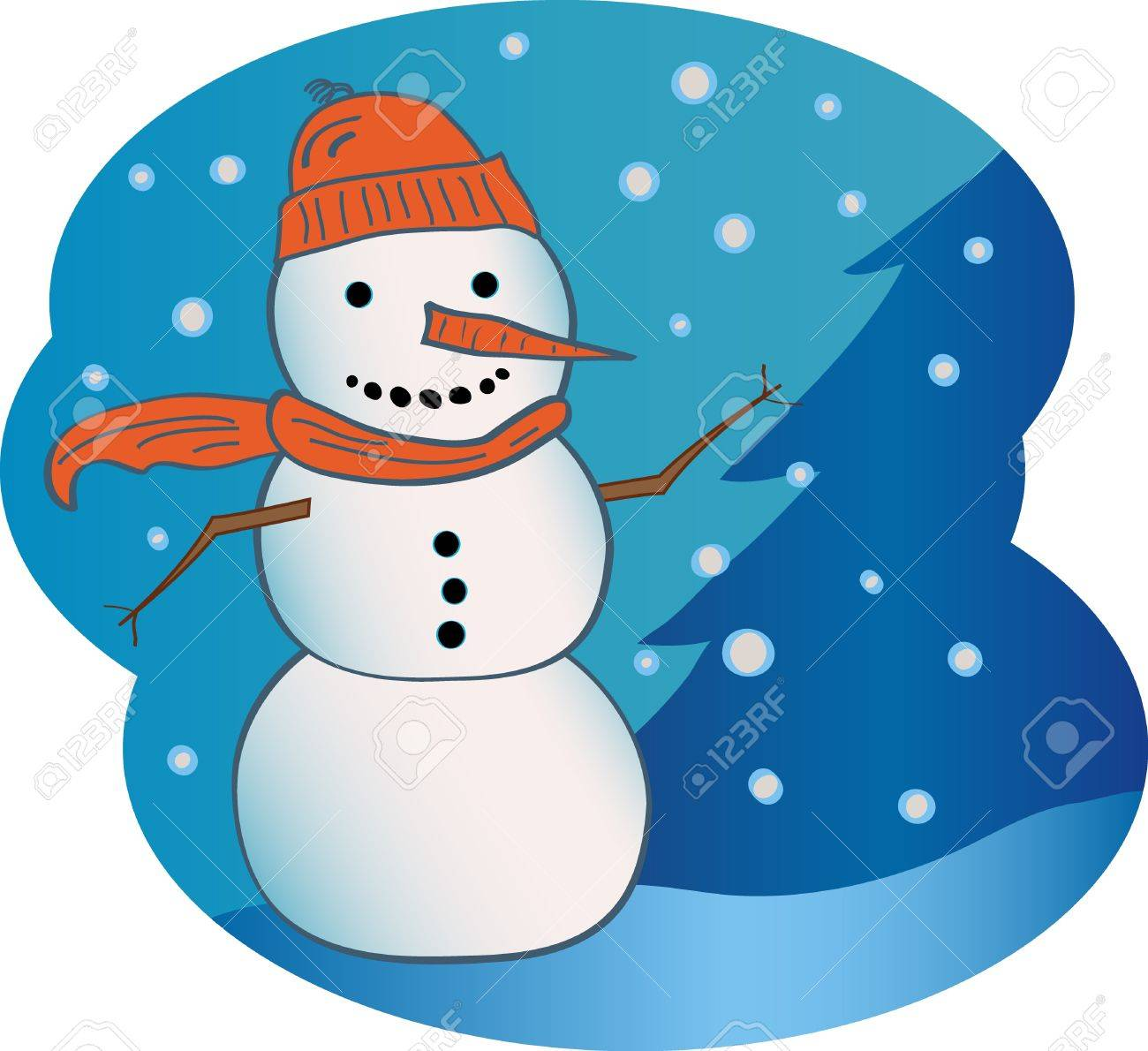 Snowman Stock Vector - 9917675