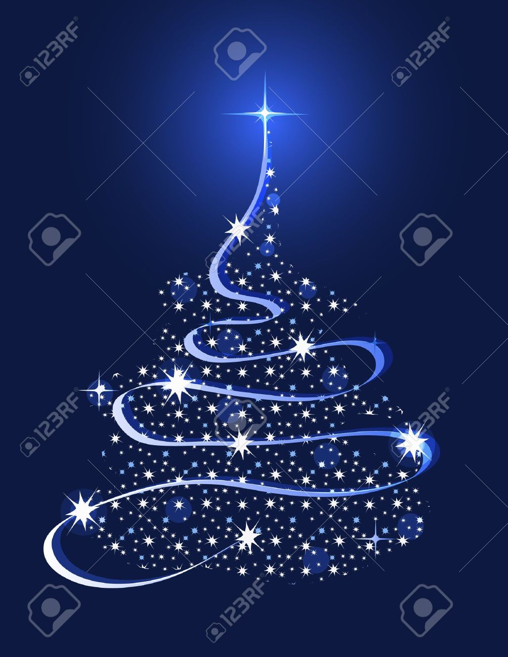 christmas tree with stars royalty free cliparts vectors and