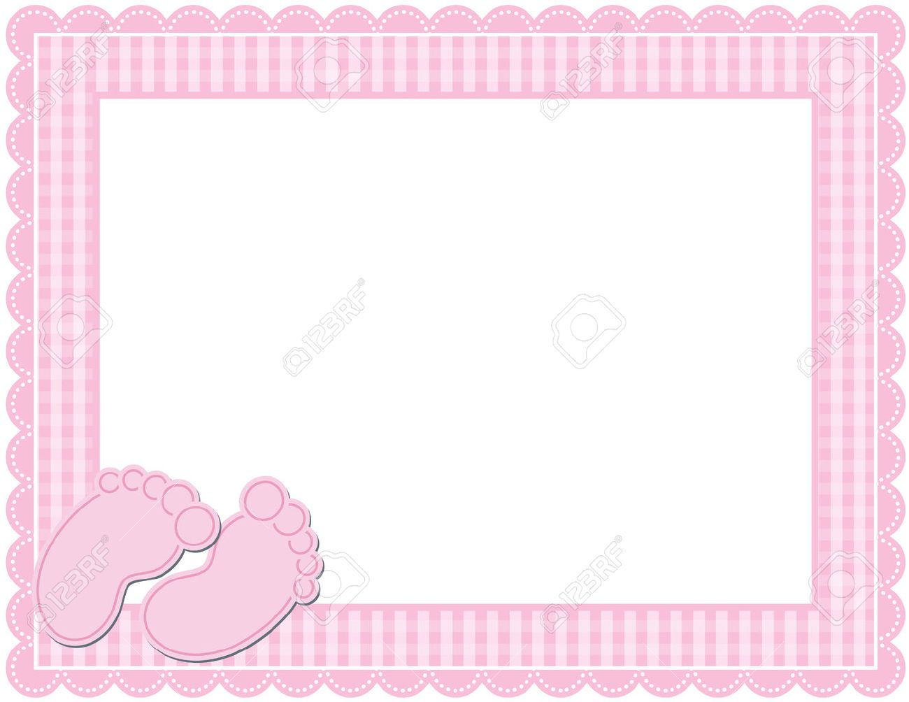 Baby Girl Gingham Frame Royalty Free Cliparts, Vectors, And Stock ...