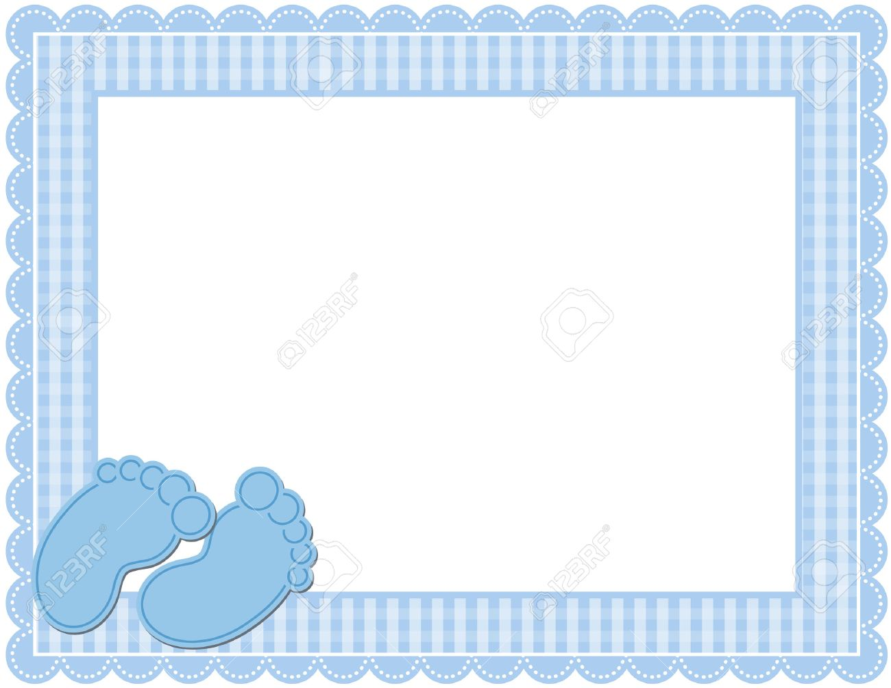 Baby Boy Gingham Frame Royalty Free Cliparts, Vectors, And Stock ...