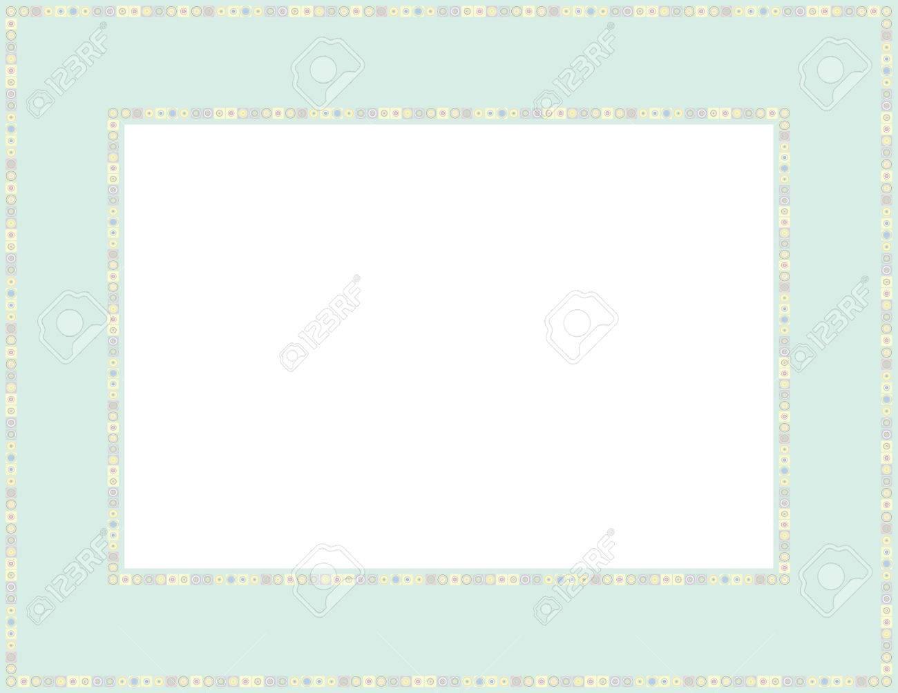 Perlen Muster Rahmen Mit Mosaik Grenze, Die Für Babypartys Genutzt ...