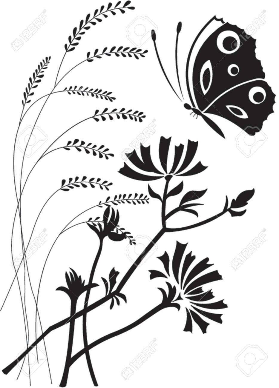 Flowers and the butterfly Stock Vector - 866610