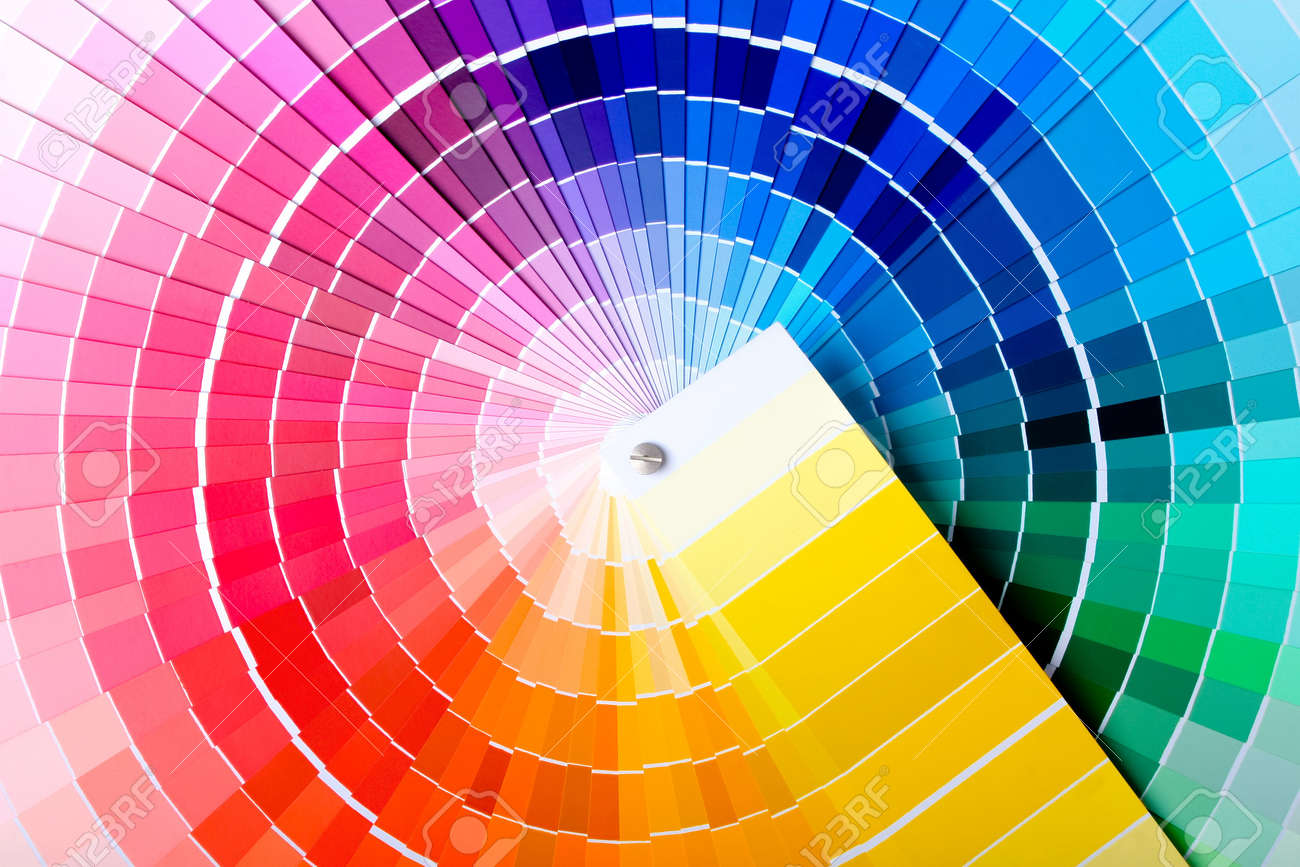 Close-up view of a color chart used for paint selection - 4317882