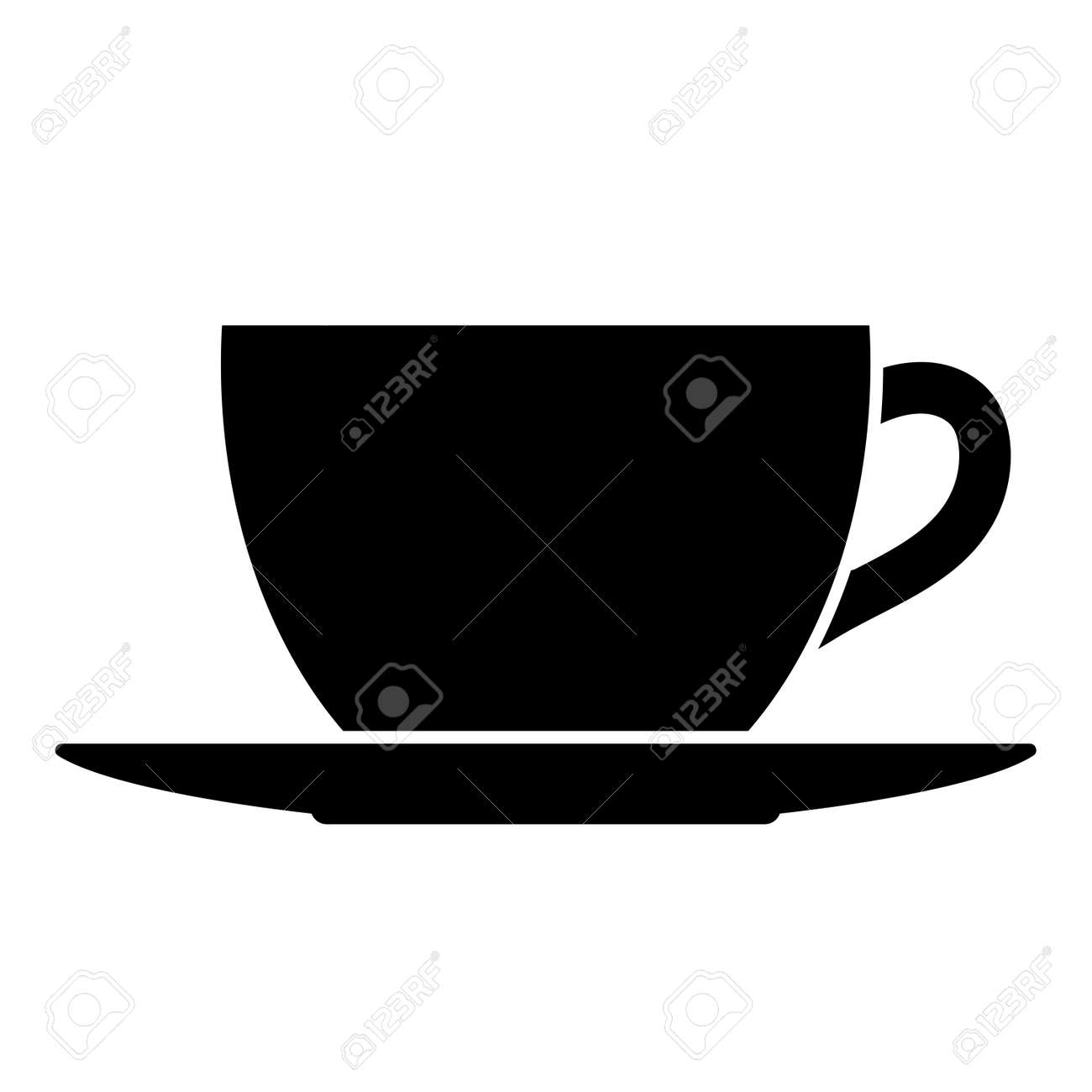 Tea Or Coffee Cup And Saucer Vector Illustration Royalty Free Cliparts Vectors And Stock Illustration Image 124155665
