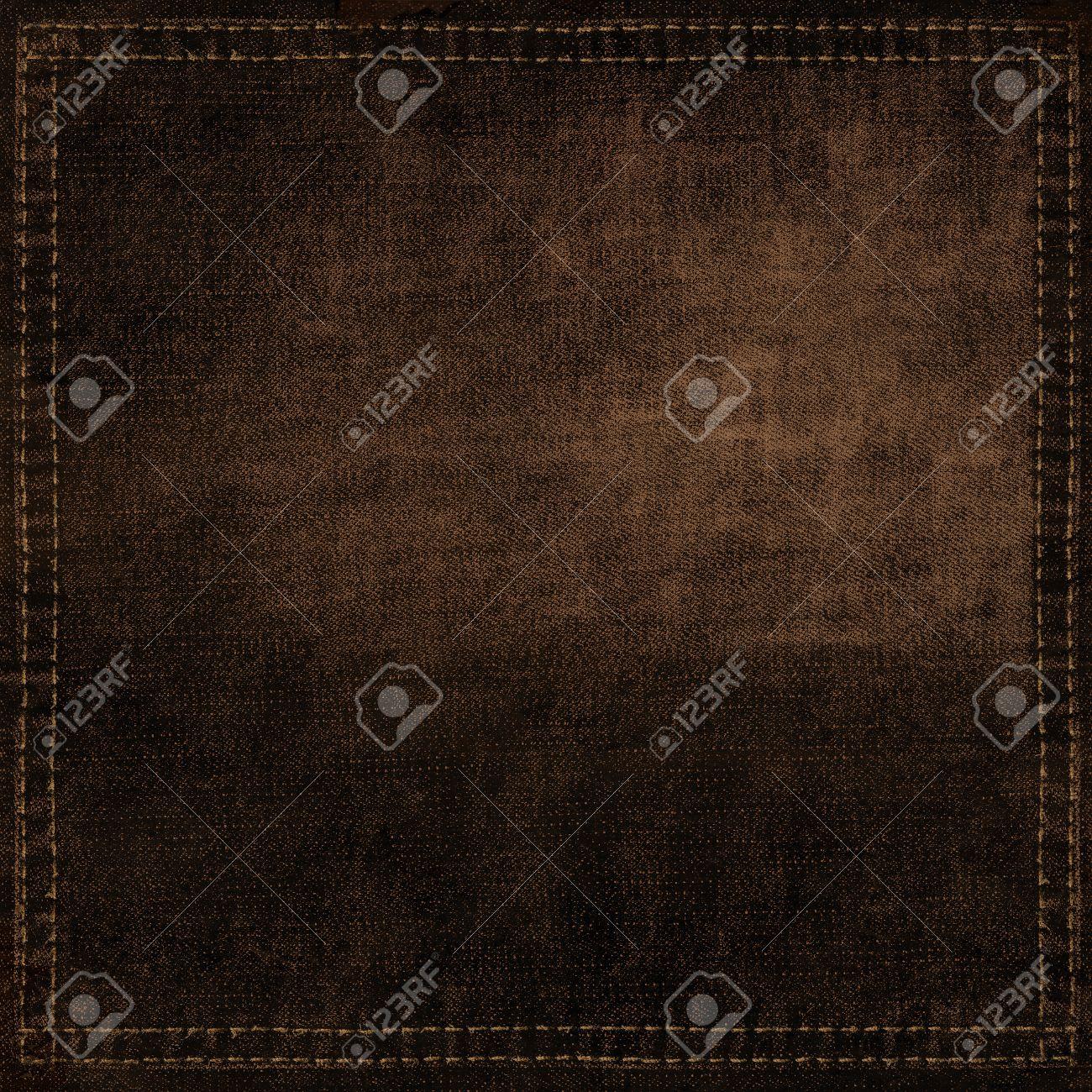 Fond Brun Texture Noir Tissu Toile Papier Peint Modele Jeans