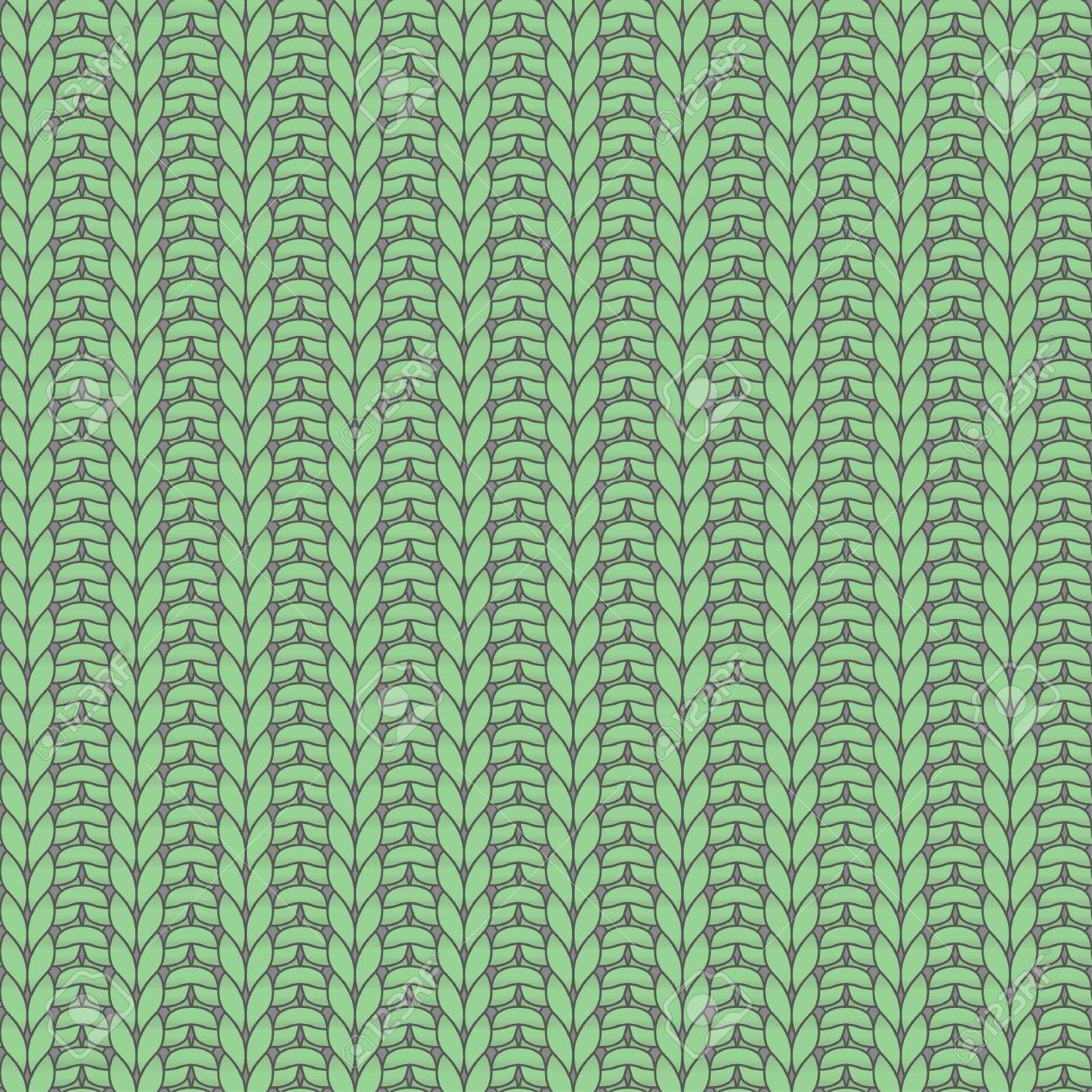 Verde Tejido Sin Costuras Patrón, Costilla, Punto Uno, Puntilla Uno ...
