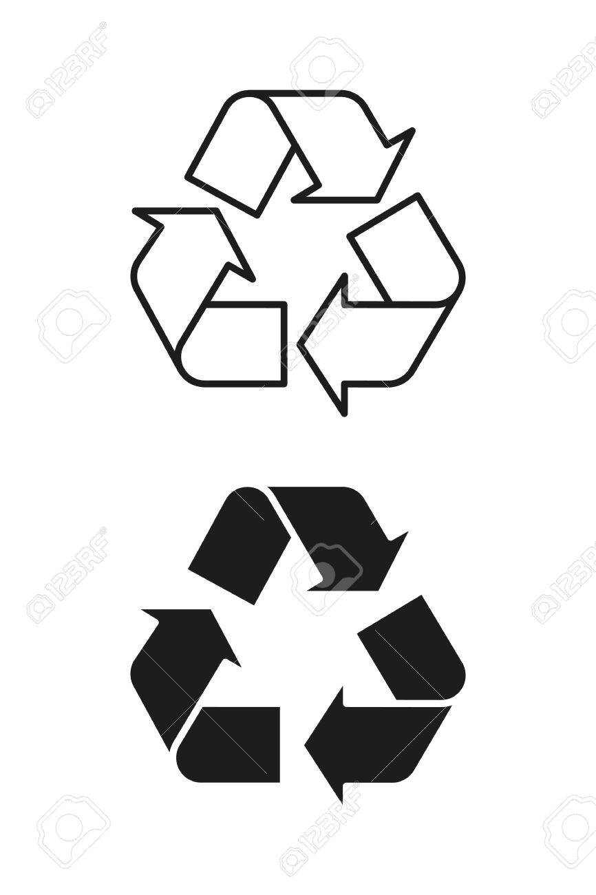 Recycling symbol on packaging black and outline vector royalty recycling symbol on packaging black and outline vector stock vector 67754083 buycottarizona Images