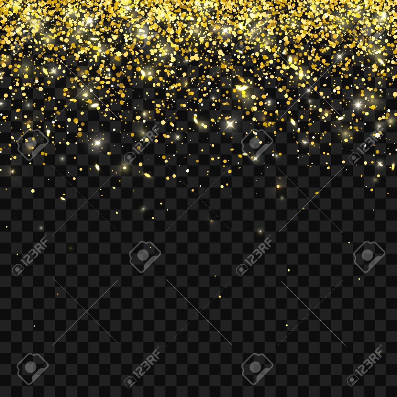 Glitter gold falling best photo