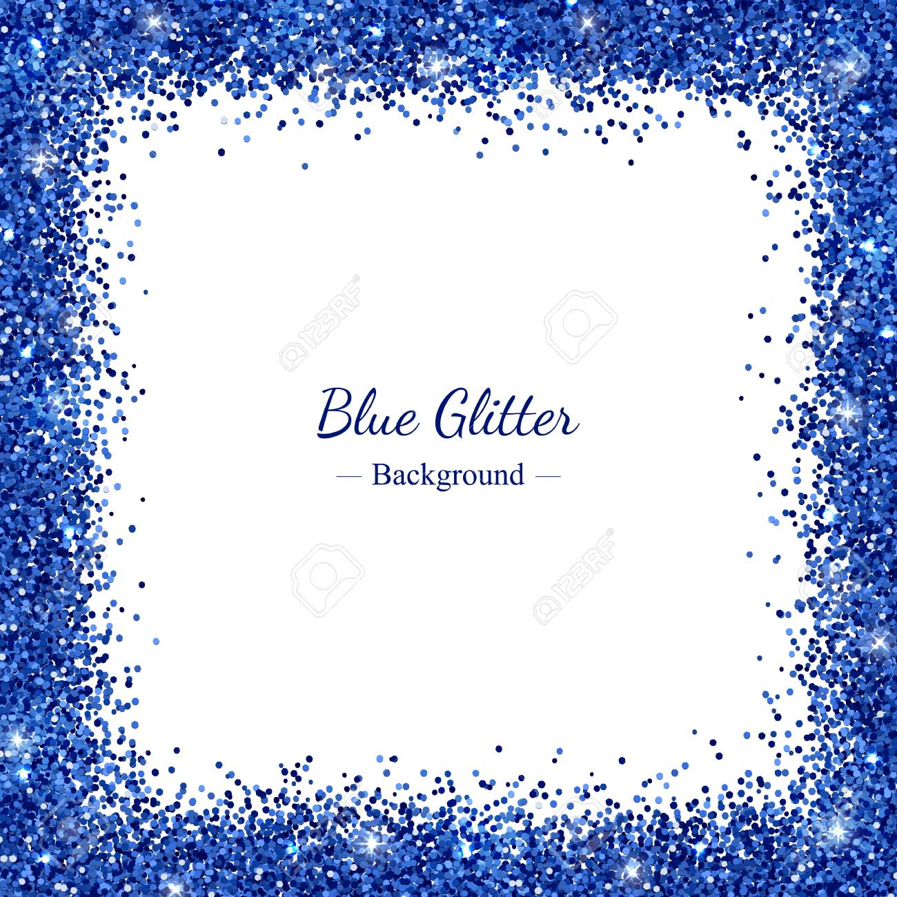 square border frame with blue glitter on white background vector royalty free cliparts vectors and stock illustration image 92885468 square border frame with blue glitter on white background vector