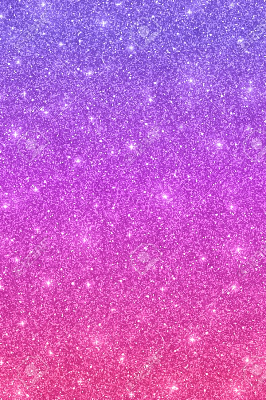 Glitter Vertical Texture With Purple Pink Color Effect Stock Photo