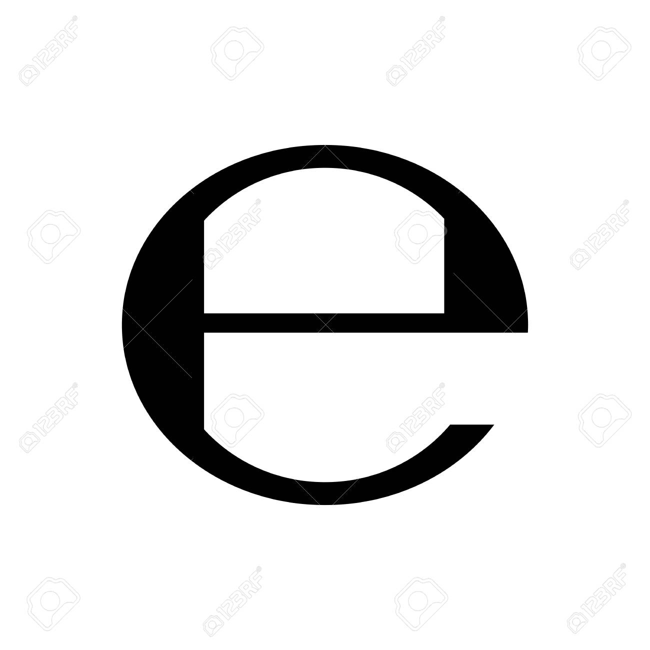 Estimated Sign Packaging E Symbol Vector Illustration Royalty Free