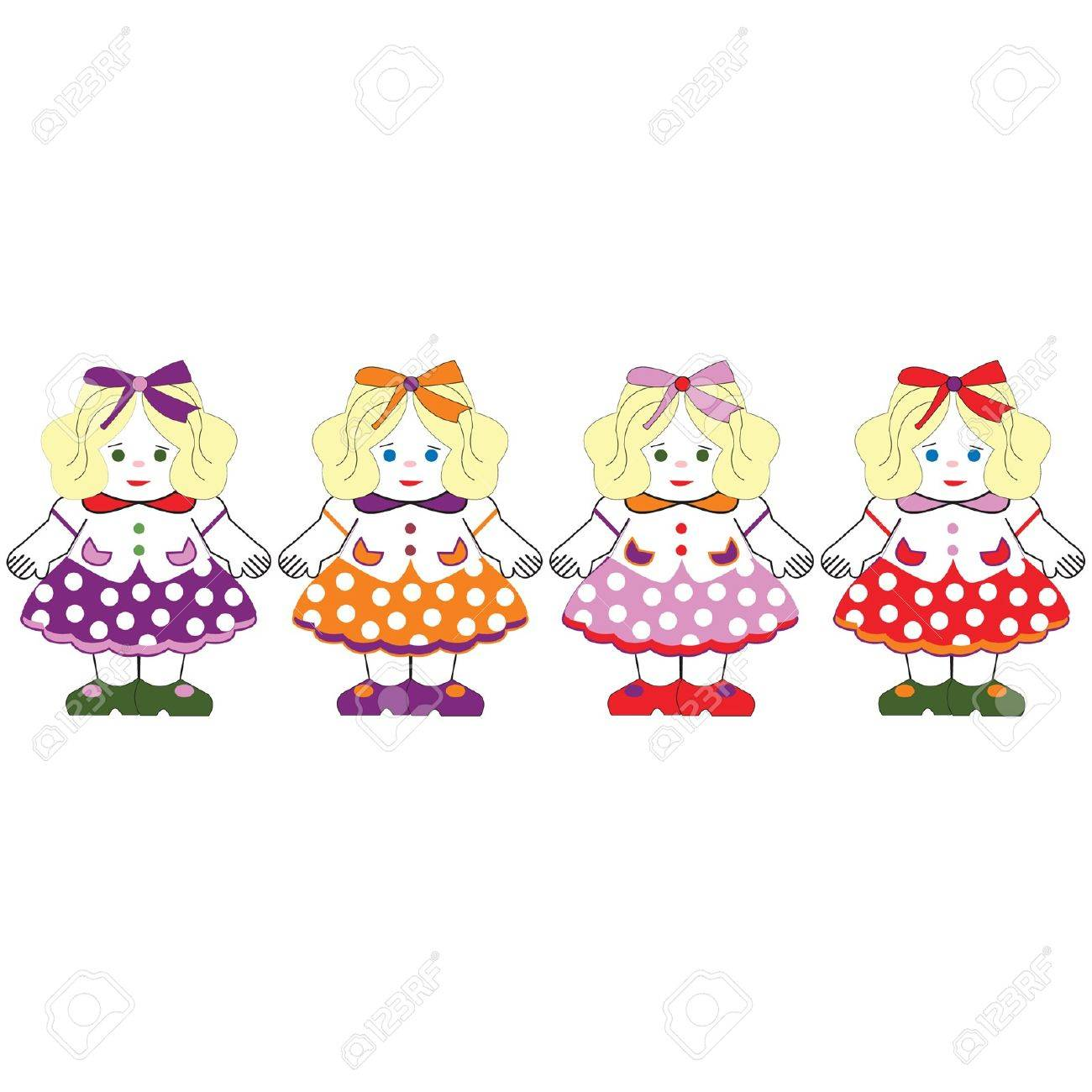 Colored doll dresses Stock Vector - 9357627