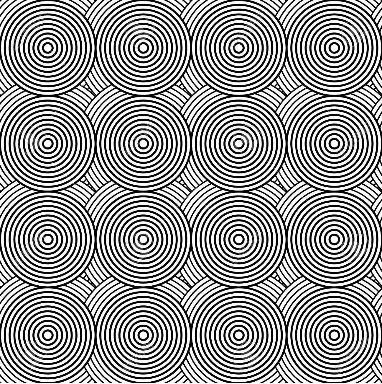 Pattern in with circle black and white Stock Vector - 15764324