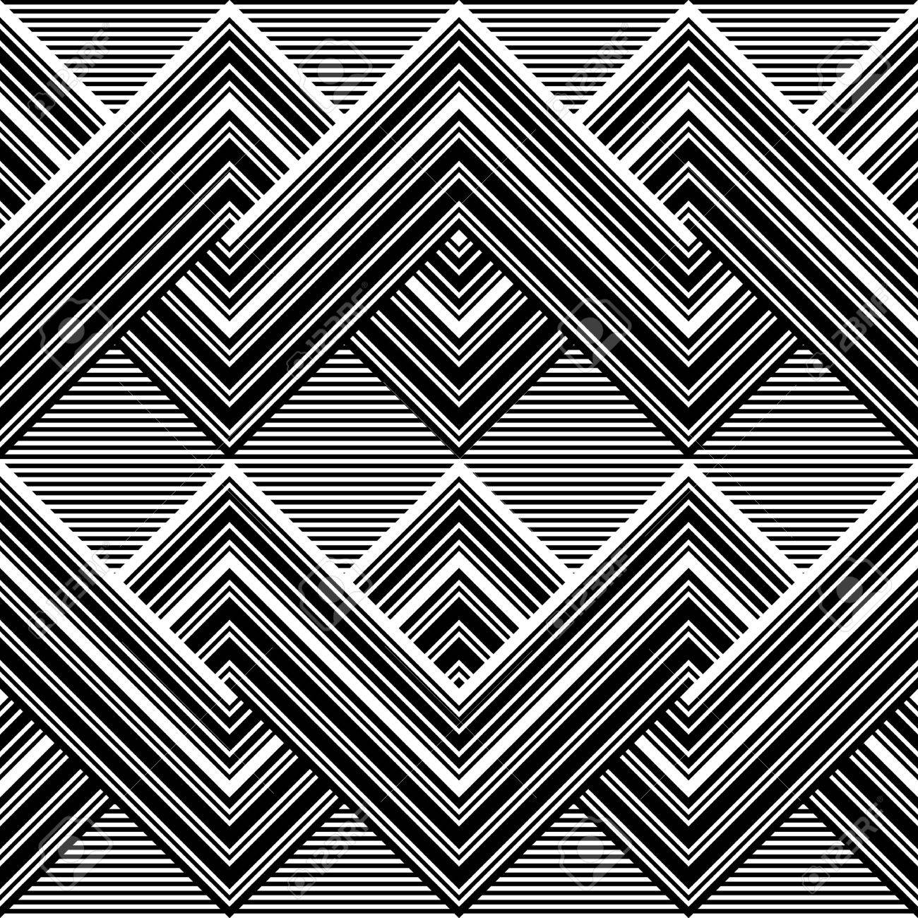 Black and white pattern by lines Stock Vector - 16160418