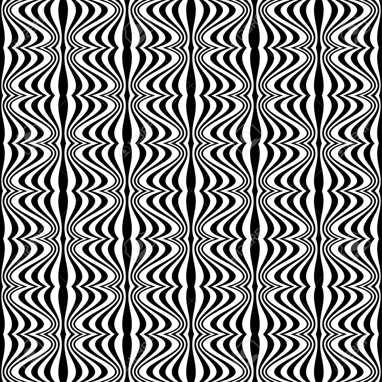 Pattern - Optical illusion with geometric drawing Stock Vector - 18218838