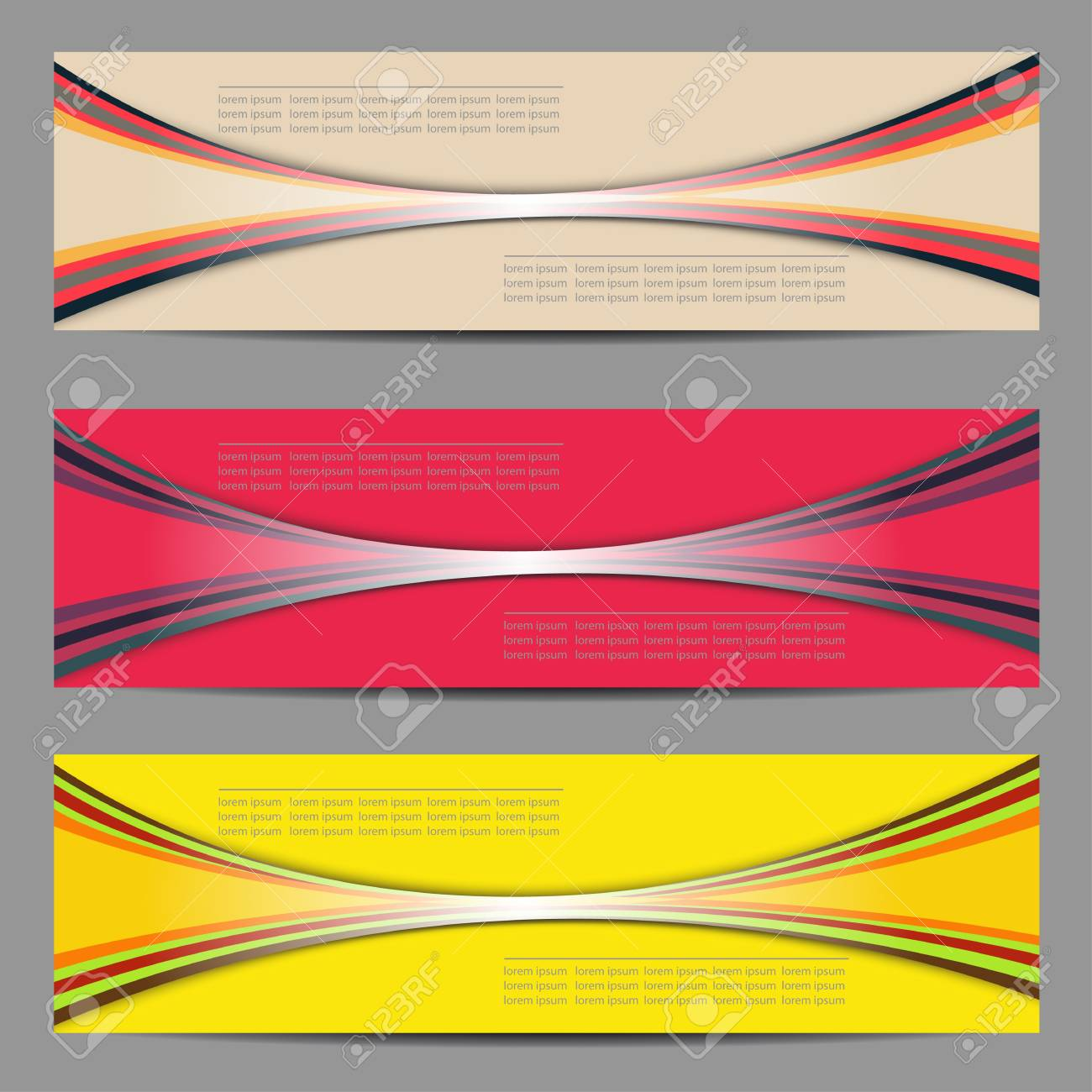 Set of banners design Stock Vector - 18842587