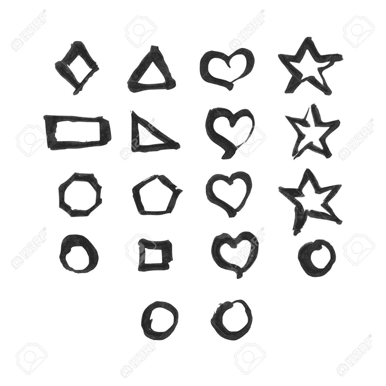 Shapes Setere Are 18 Different Symbols Design Elements Were