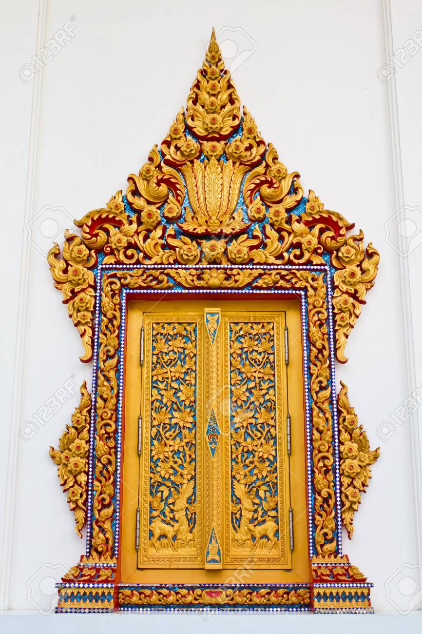 Traditional Thai style window temple Stock Photo - 7894349