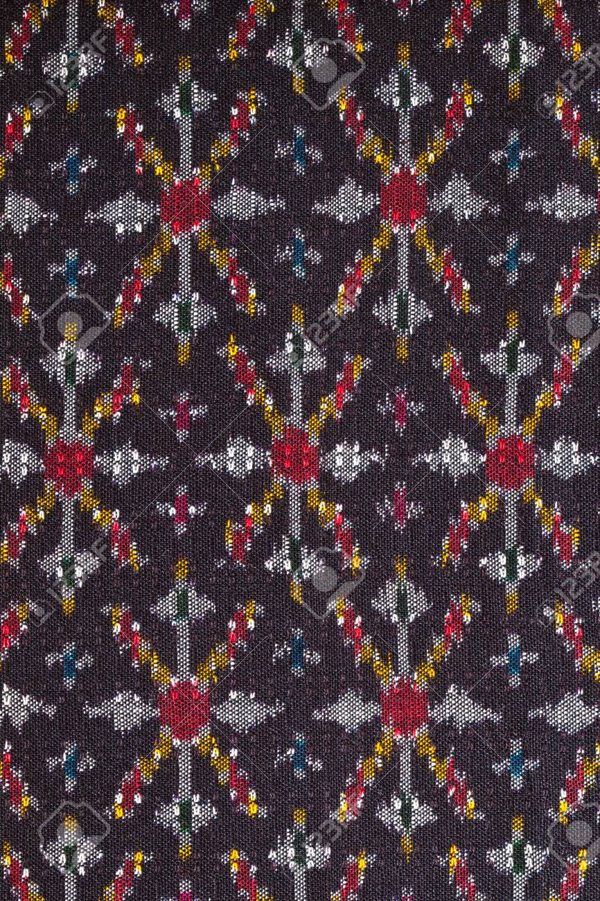 pattern on thai cloth texture of general traditional thai style native Stock Photo - 9009811