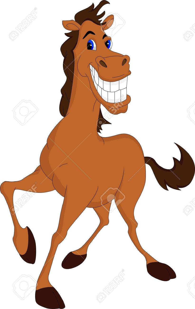 Funny Horse Cartoon Royalty Free Cliparts Vectors And Stock Illustration Image 21315538