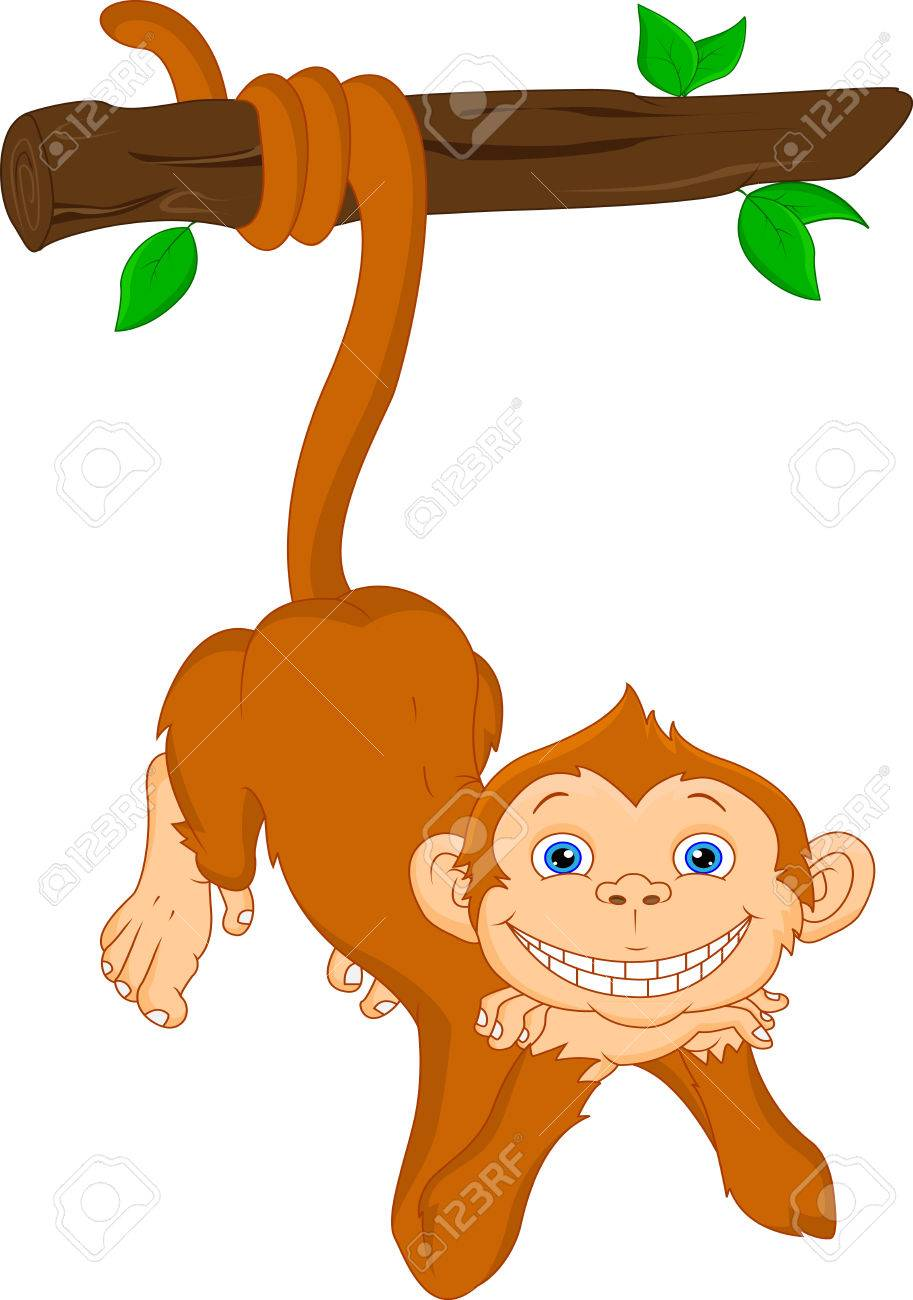 cute monkey hanging royalty free cliparts vectors and stock