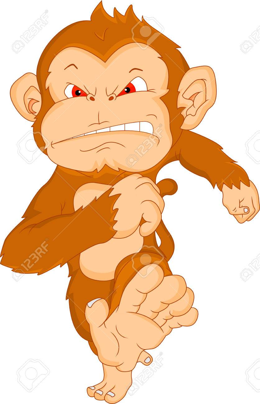 Monkey Clipart Vector Vector Angry Monkey Cartoon