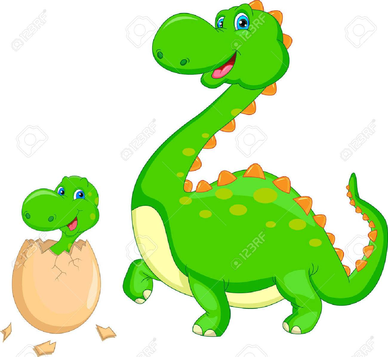 Mother And Baby Dinosaur Hatching Royalty Free Cliparts Vectors And Stock Illustration Image 32229279