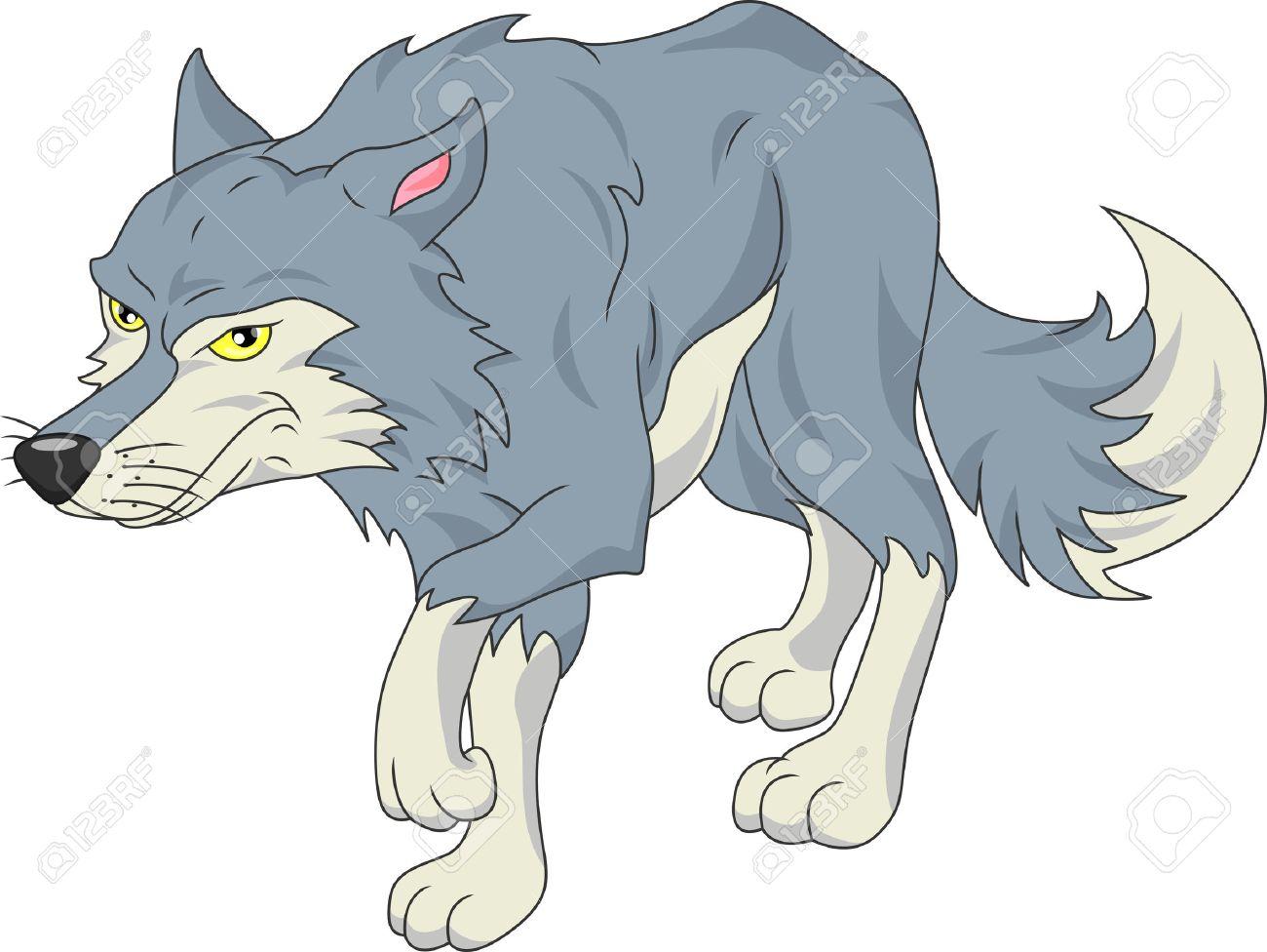 Dessin animé loup