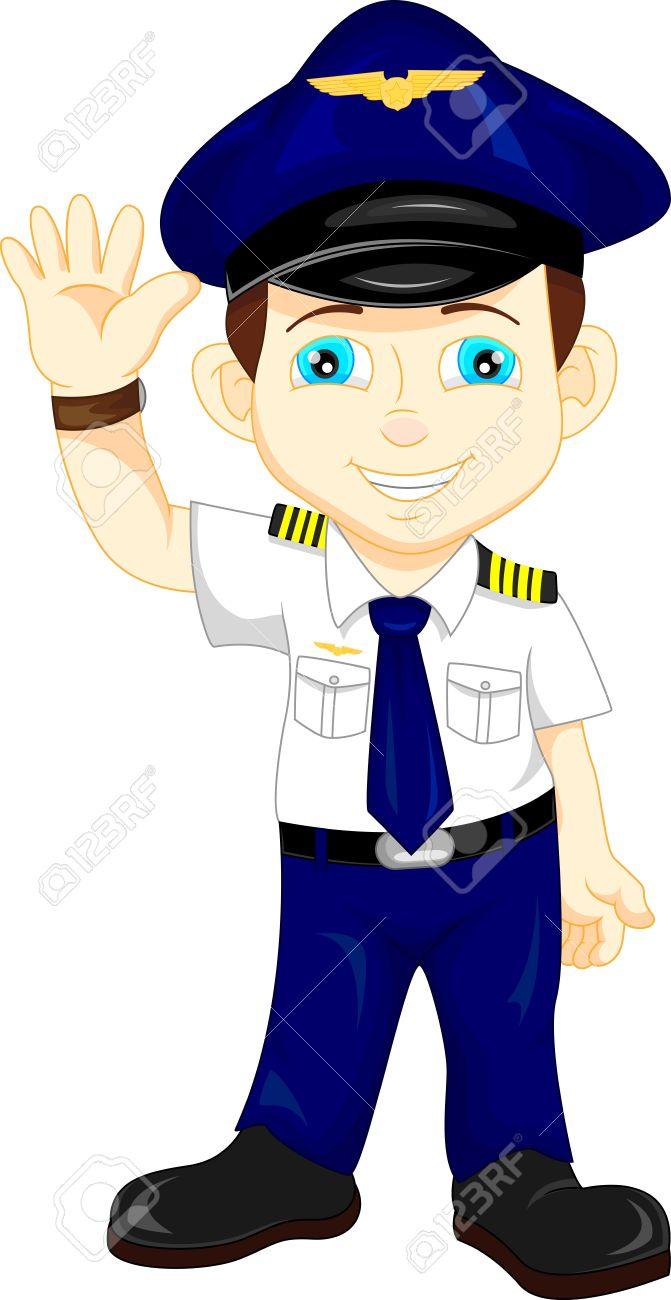 dd21f3b11d cute happy airplane pilot waving Stock Vector - 47221560