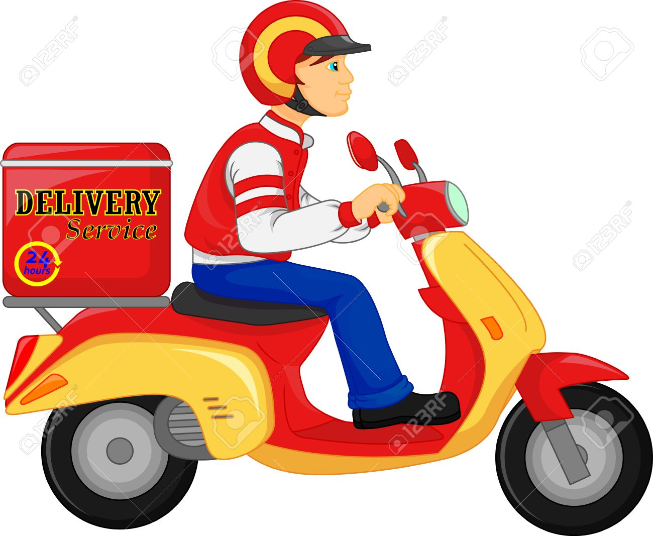 free motorcycle shipping  Delivery Boy Ride Scooter Motorcycle Service, Order, Worldwide ...
