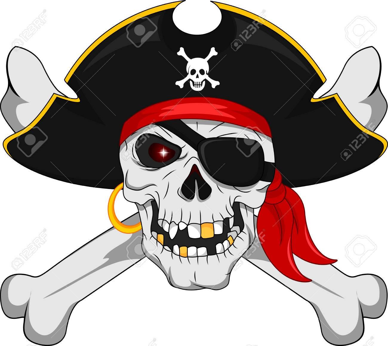 Piratenschädel Und Gekreuzte Knochen Lizenzfrei Nutzbare ...