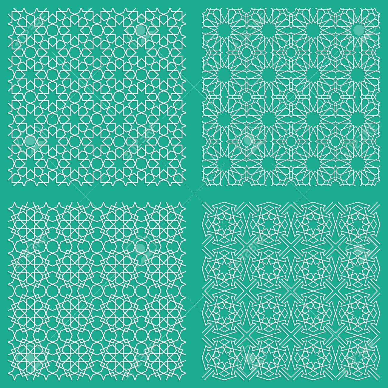 abstract seamless traditional geometric arabian patterns for