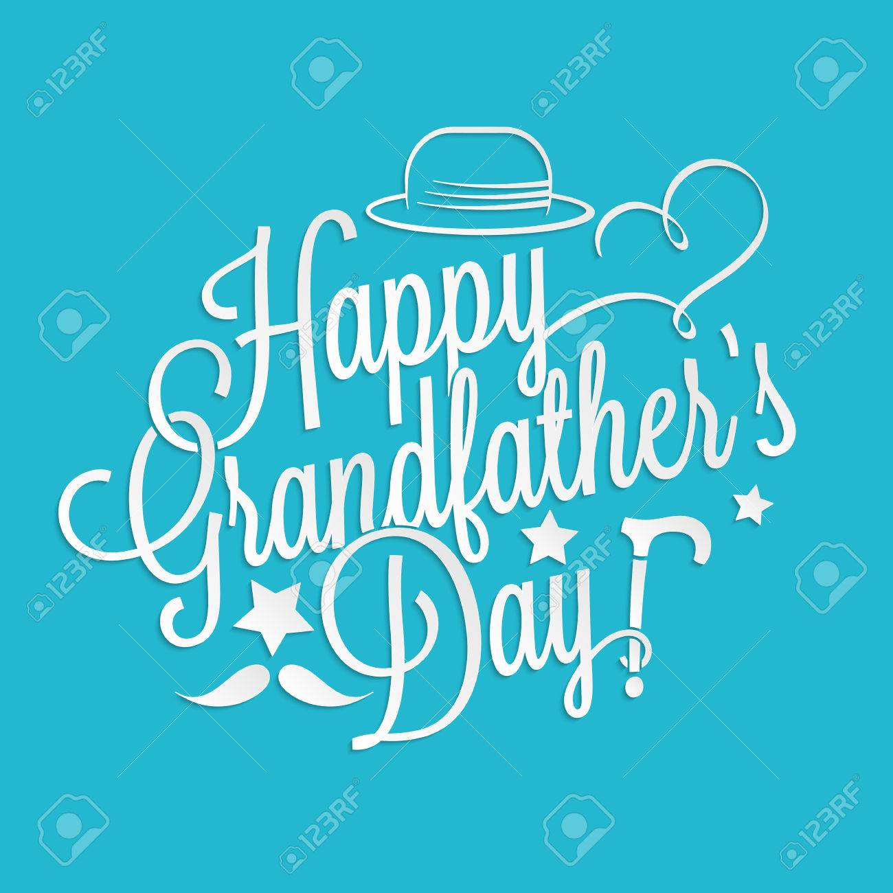happy grandfather s day lettering for your greeting card design