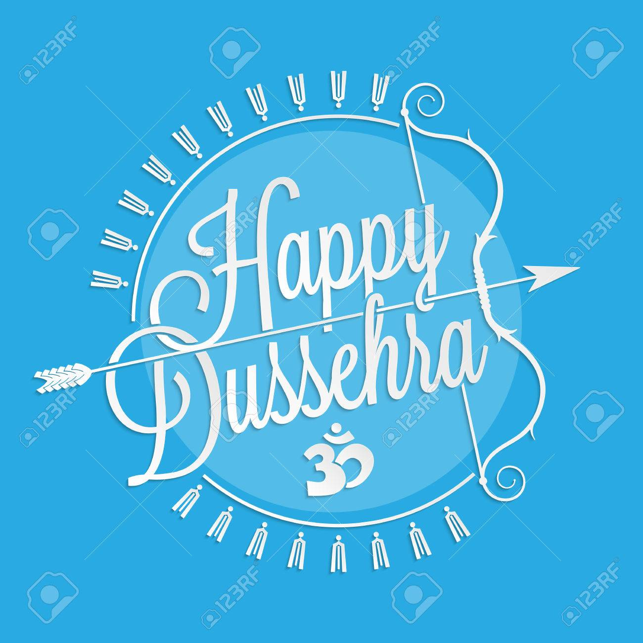 Happy Dussehra Lettering For Your Greeting Card Design Royalty Free