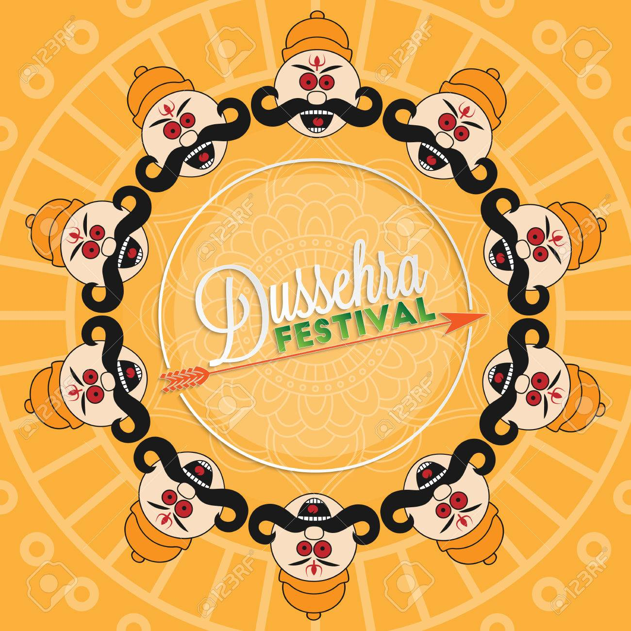 Dussehra festival lettering for your greeting card design royalty dussehra festival lettering for your greeting card design stock vector 46471791 m4hsunfo